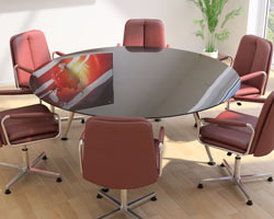 Large Round Meeting Table